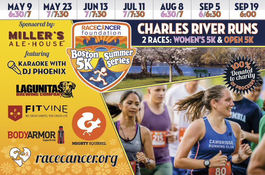 Join Us On Seven Thursday Evenings From May Through September For Fun Friendly Chip Timed 5K Runs To Kick Cancers Butt Each Of The First Six Dates